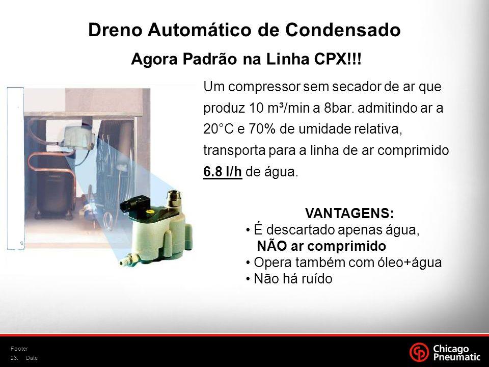 Dreno Automático de Condensado Agora Padrão na Linha CPX!!!