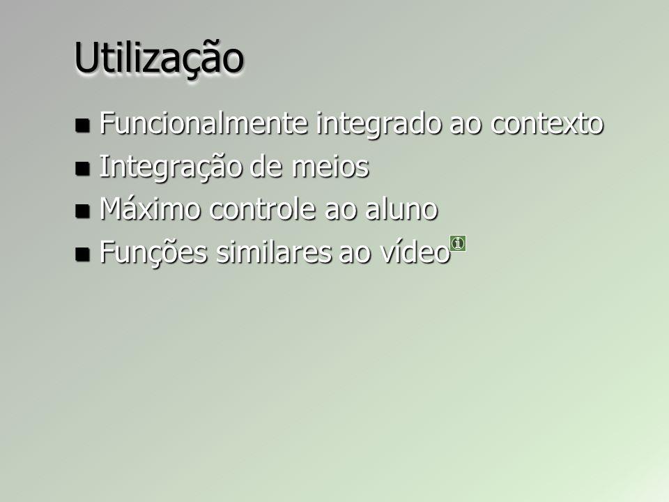 Utilização Funcionalmente integrado ao contexto Integração de meios