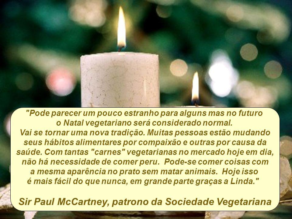Sir Paul McCartney, patrono da Sociedade Vegetariana
