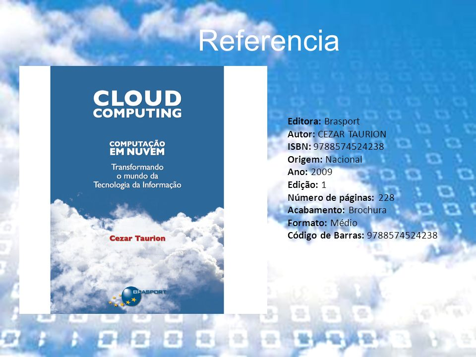 Referencia Editora: Brasport Autor: CEZAR TAURION ISBN: 9788574524238