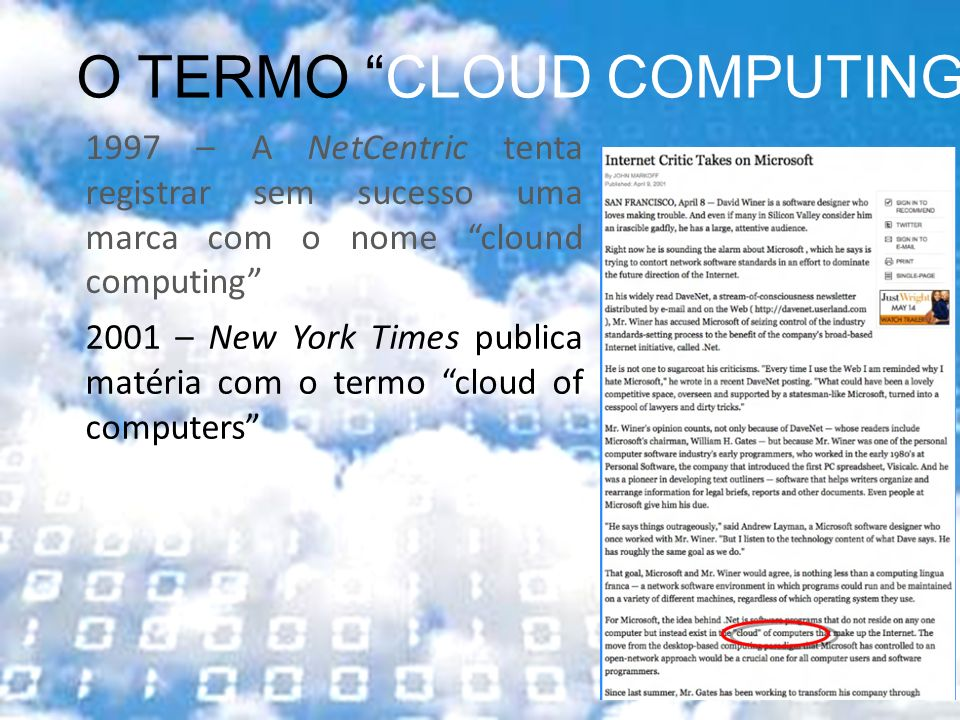 O TERMO CLOUD COMPUTING