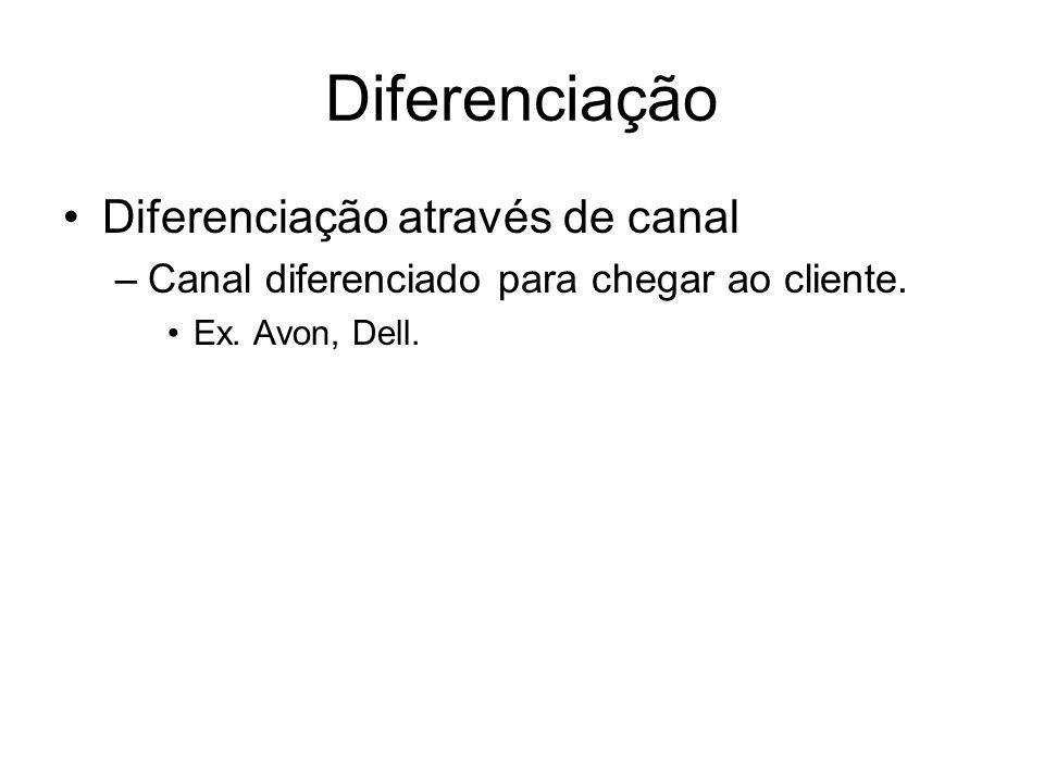 Diferenciação Diferenciação através de canal
