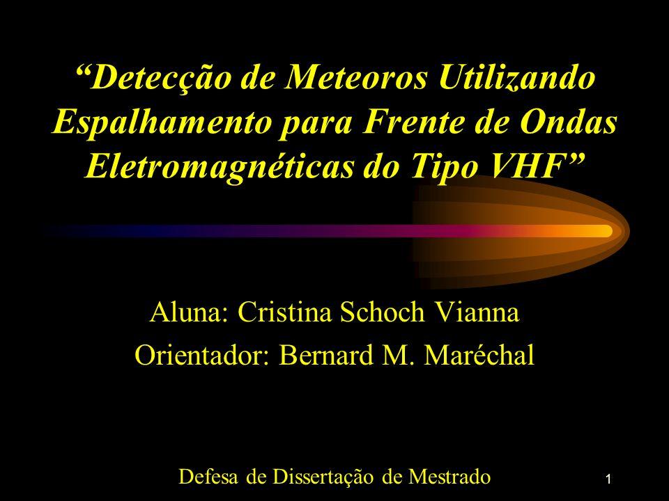 Detecção de Meteoros Utilizando Espalhamento para Frente de Ondas Eletromagnéticas do Tipo VHF