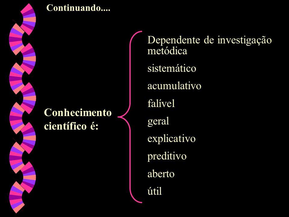 Dependente de investigação metódica sistemático acumulativo falível