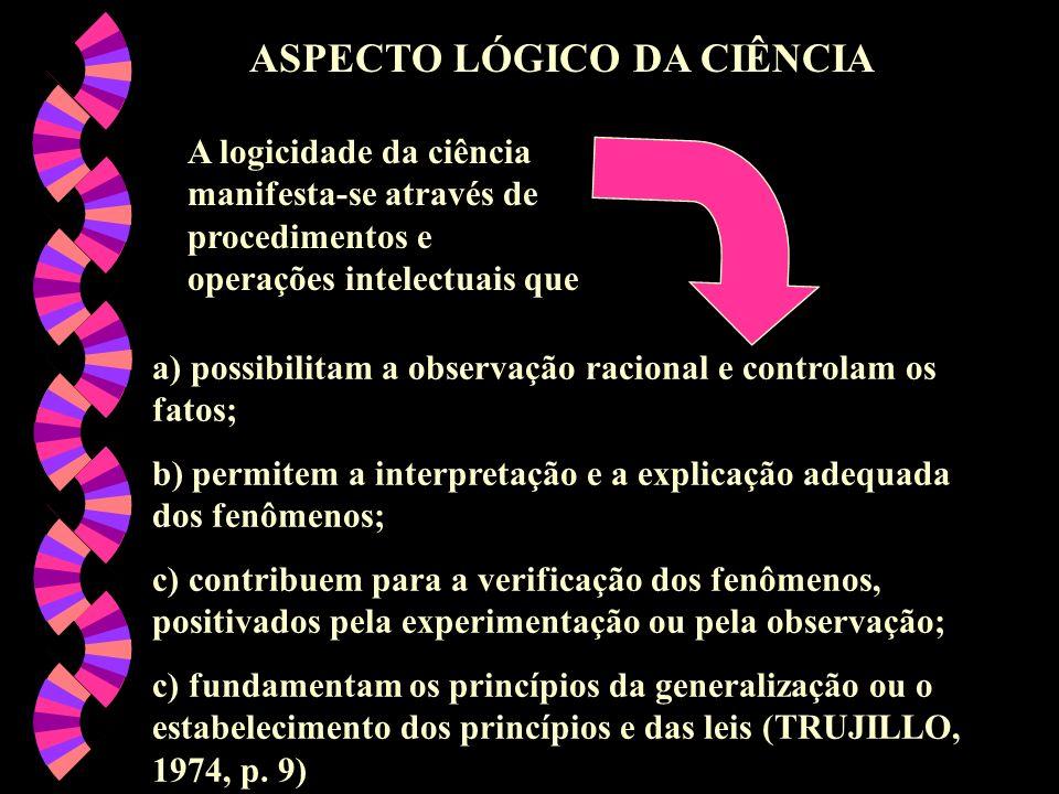 ASPECTO LÓGICO DA CIÊNCIA