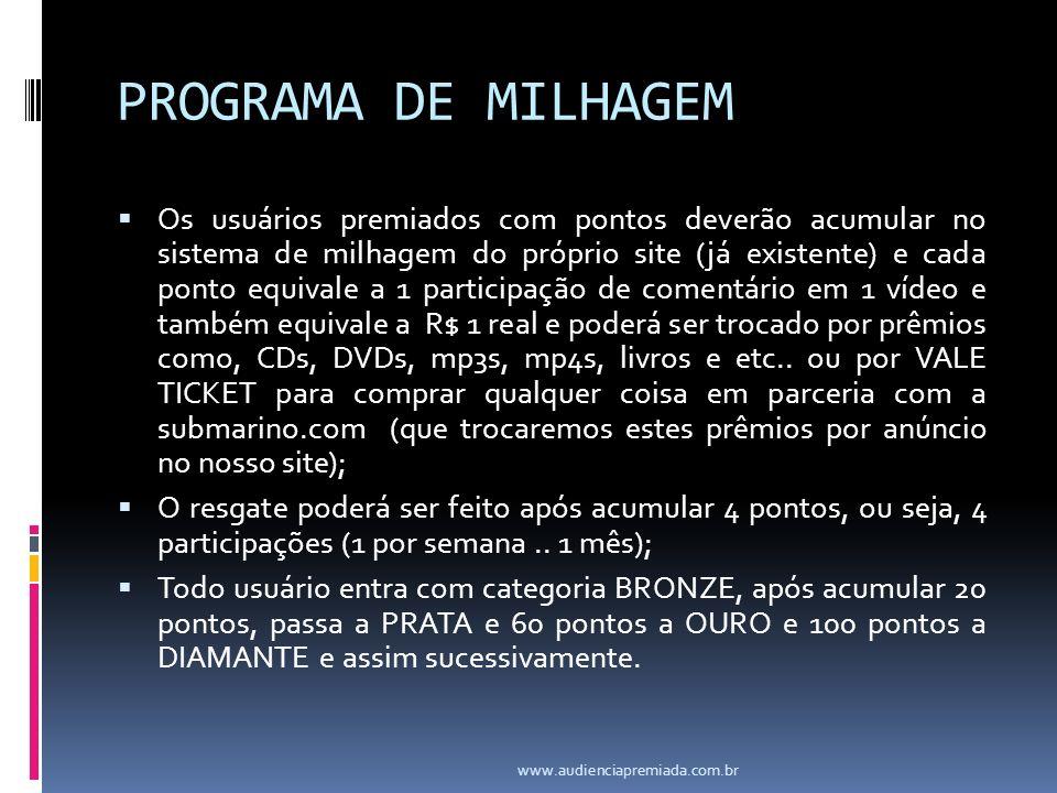 PROGRAMA DE MILHAGEM
