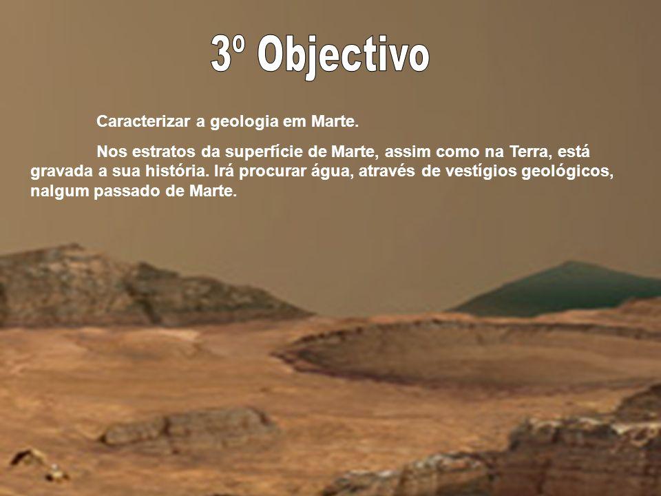 3º Objectivo Caracterizar a geologia em Marte.