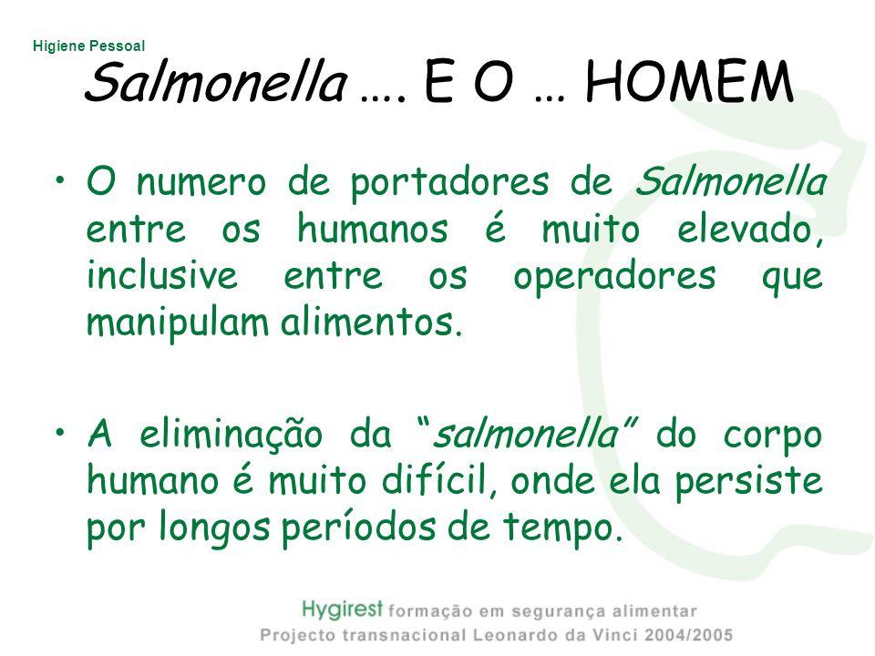Salmonella …. E O … HOMEM