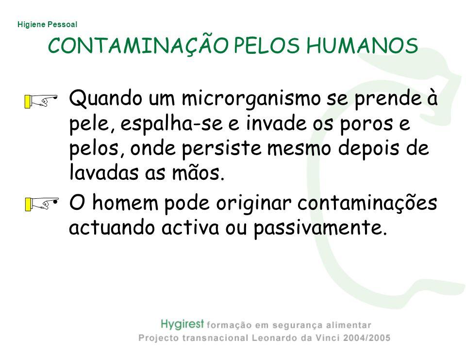 CONTAMINAÇÃO PELOS HUMANOS