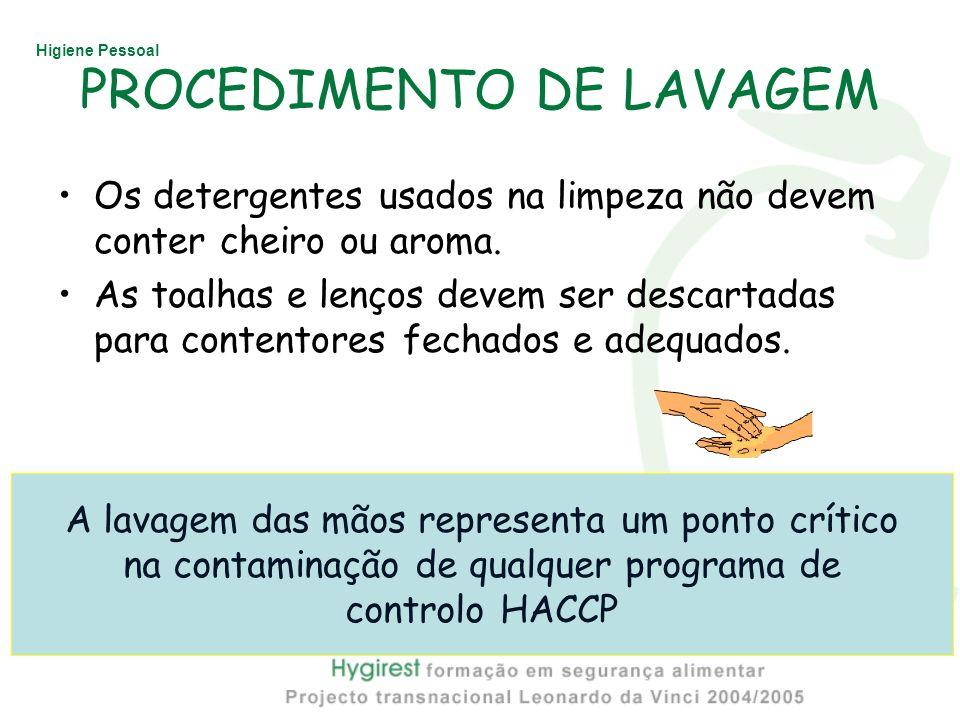 PROCEDIMENTO DE LAVAGEM