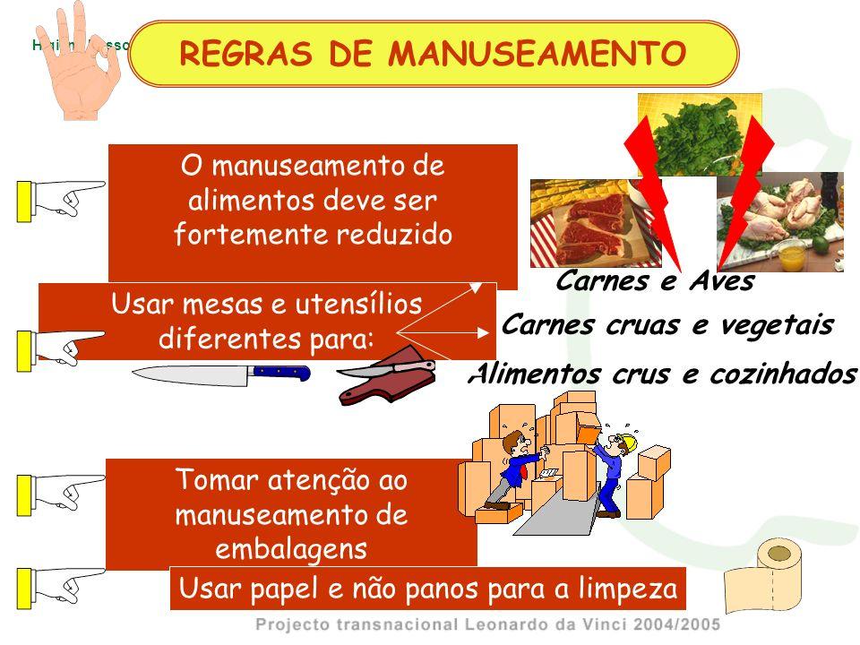 REGRAS DE MANUSEAMENTO