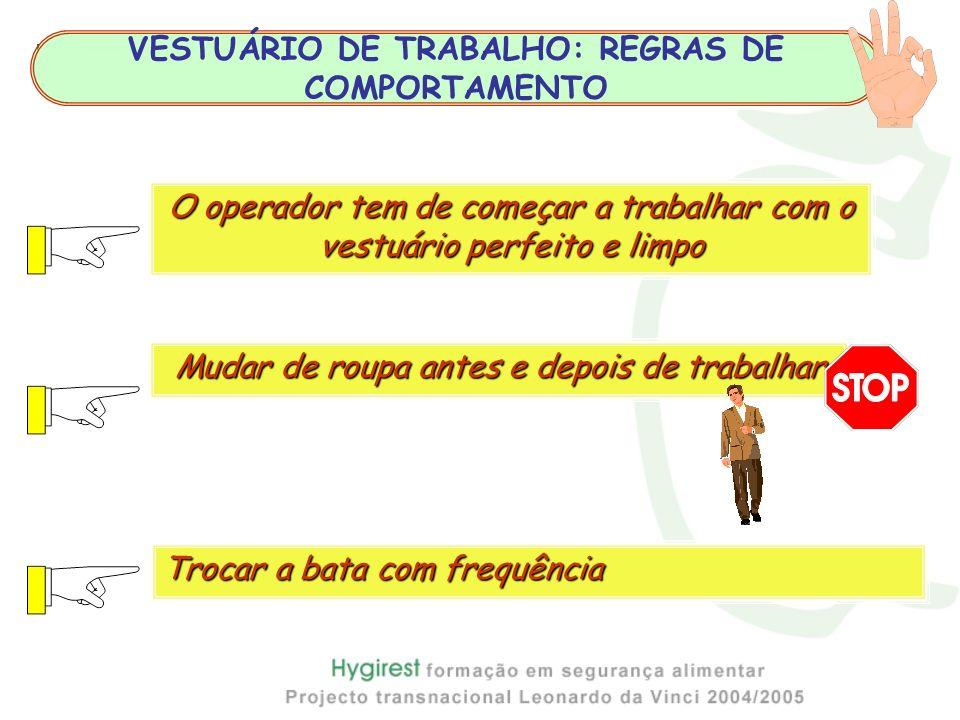 VESTUÁRIO DE TRABALHO: REGRAS DE COMPORTAMENTO