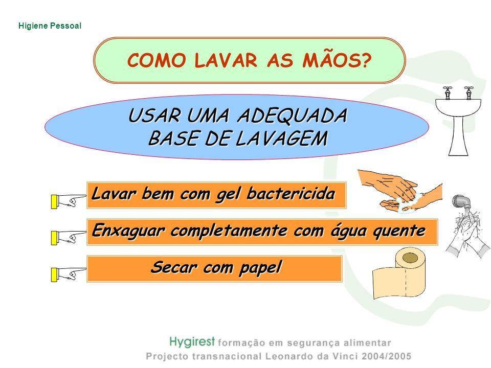 1 2 3 COMO LAVAR AS MÃOS USAR UMA ADEQUADA BASE DE LAVAGEM