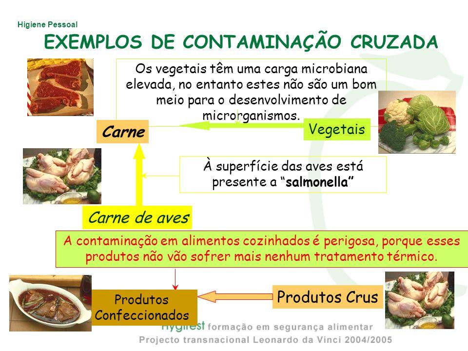 EXEMPLOS DE CONTAMINAÇÃO CRUZADA