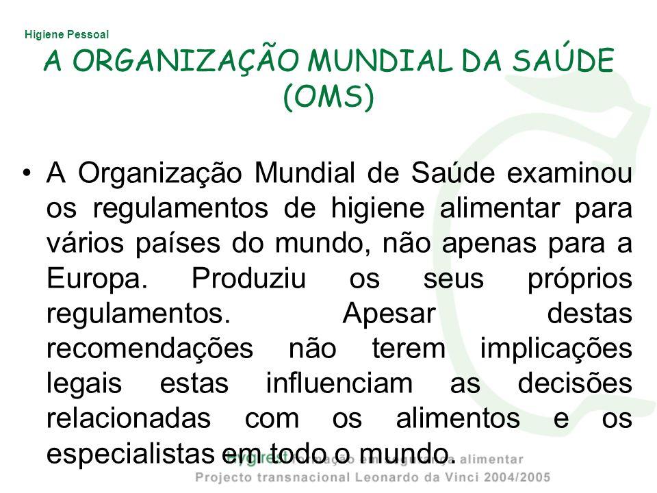 A ORGANIZAÇÃO MUNDIAL DA SAÚDE (OMS)
