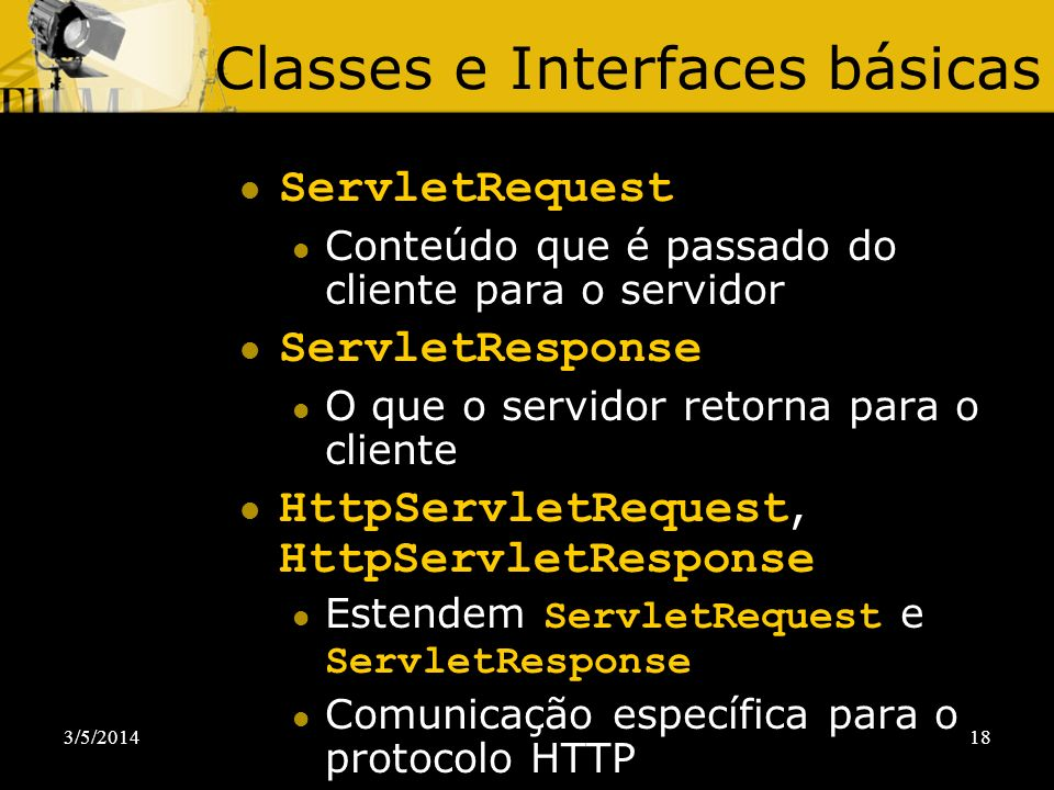 Classes e Interfaces básicas