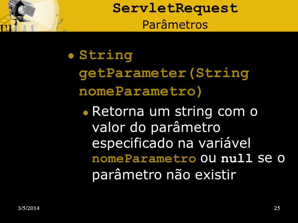 ServletRequest Parâmetros