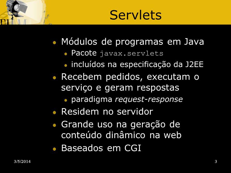 Servlets Módulos de programas em Java
