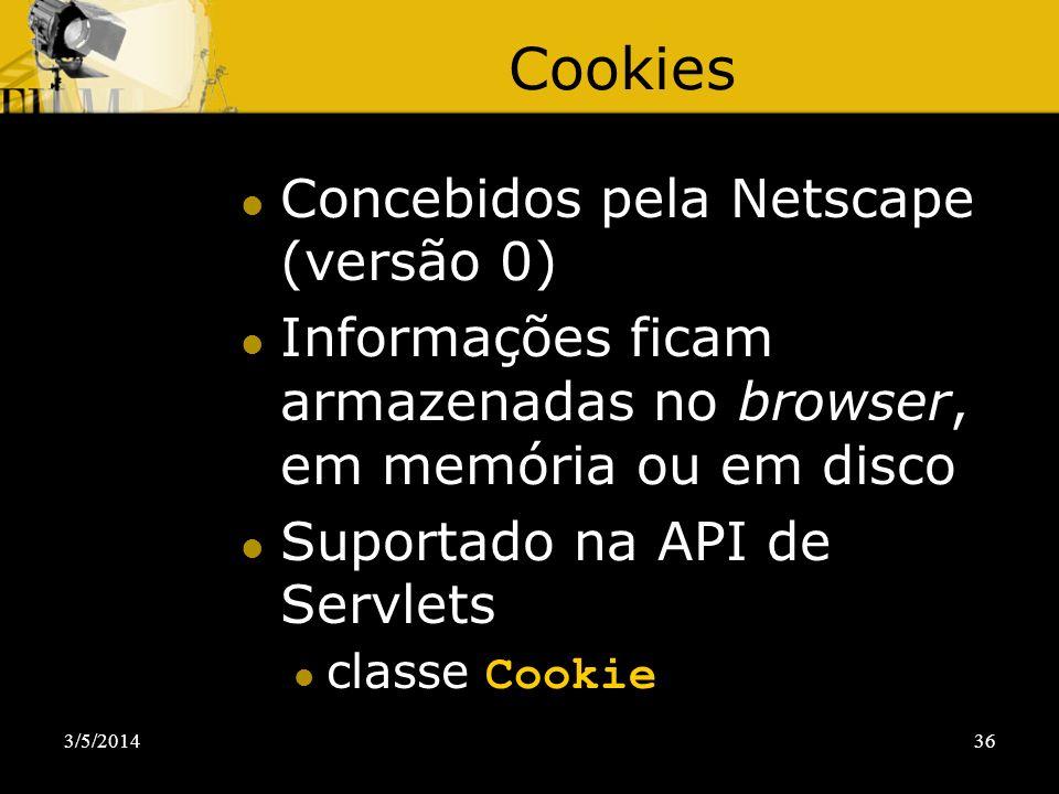 Cookies Concebidos pela Netscape (versão 0)