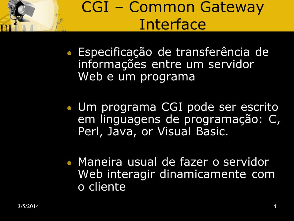CGI – Common Gateway Interface