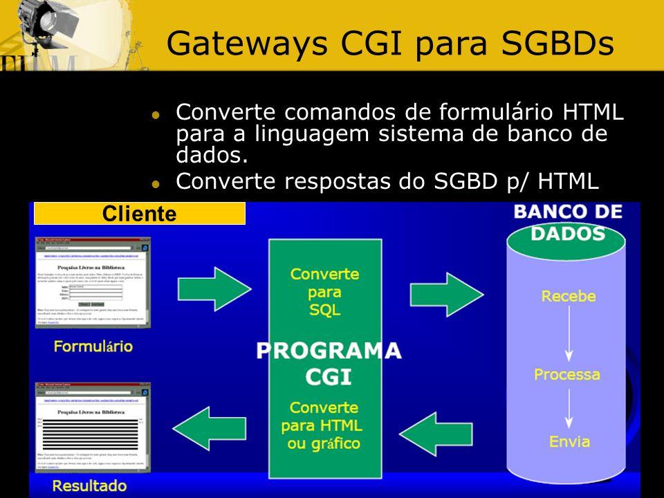 Gateways CGI para SGBDs