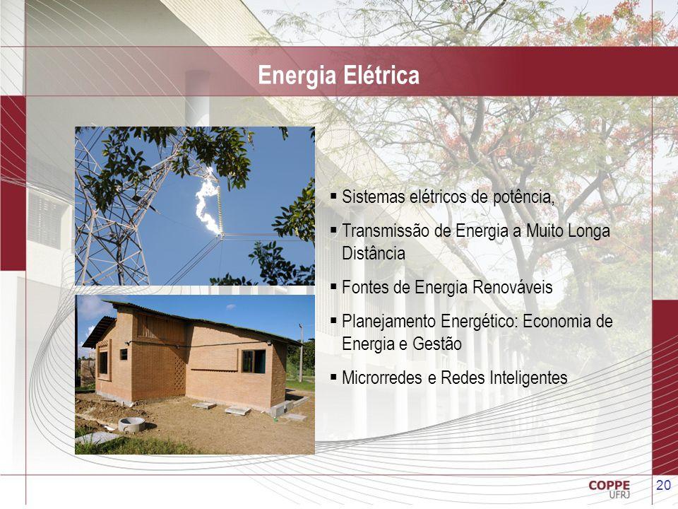Energia Elétrica Sistemas elétricos de potência,