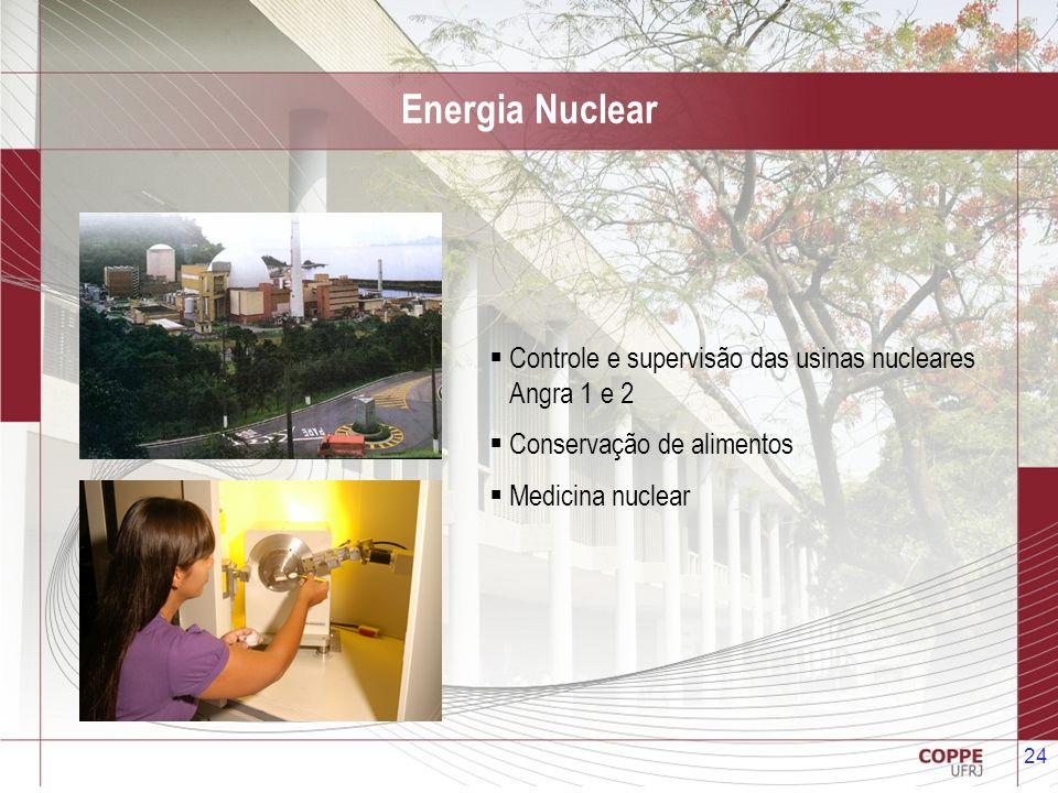 Energia Nuclear Controle e supervisão das usinas nucleares Angra 1 e 2