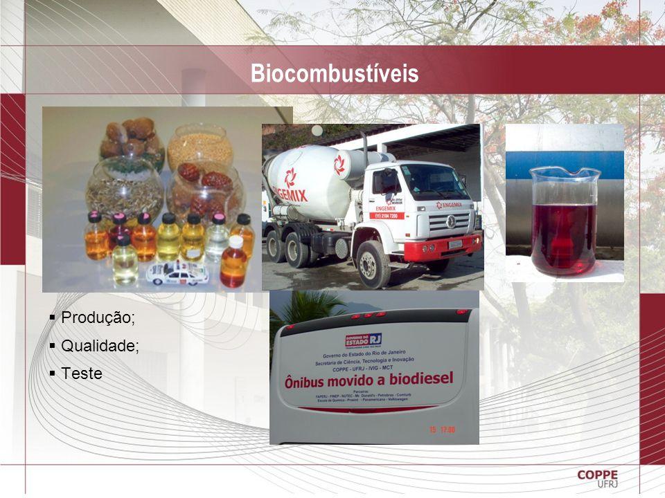 Biocombustíveis Produção; Qualidade; Teste