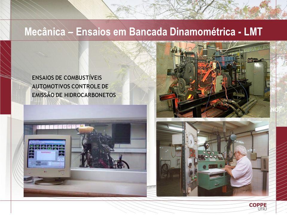 Mecânica – Ensaios em Bancada Dinamométrica - LMT