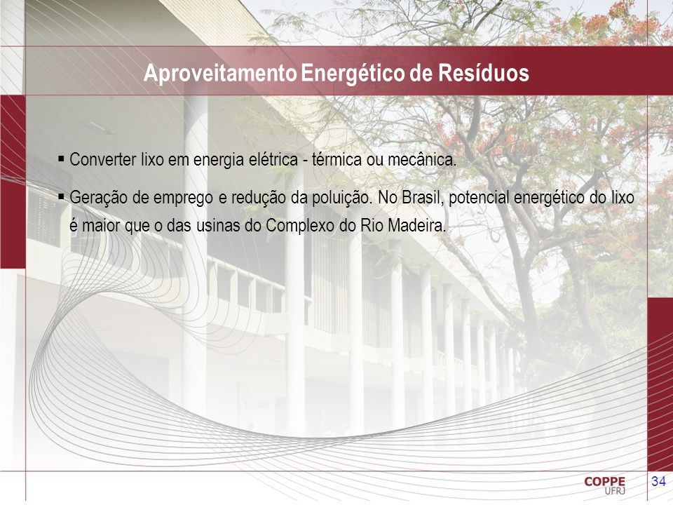 Aproveitamento Energético de Resíduos