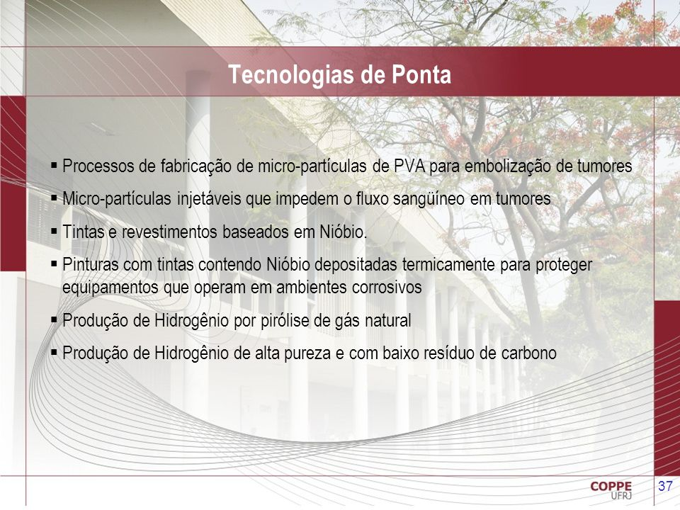 Tecnologias de Ponta Processos de fabricação de micro-partículas de PVA para embolização de tumores.