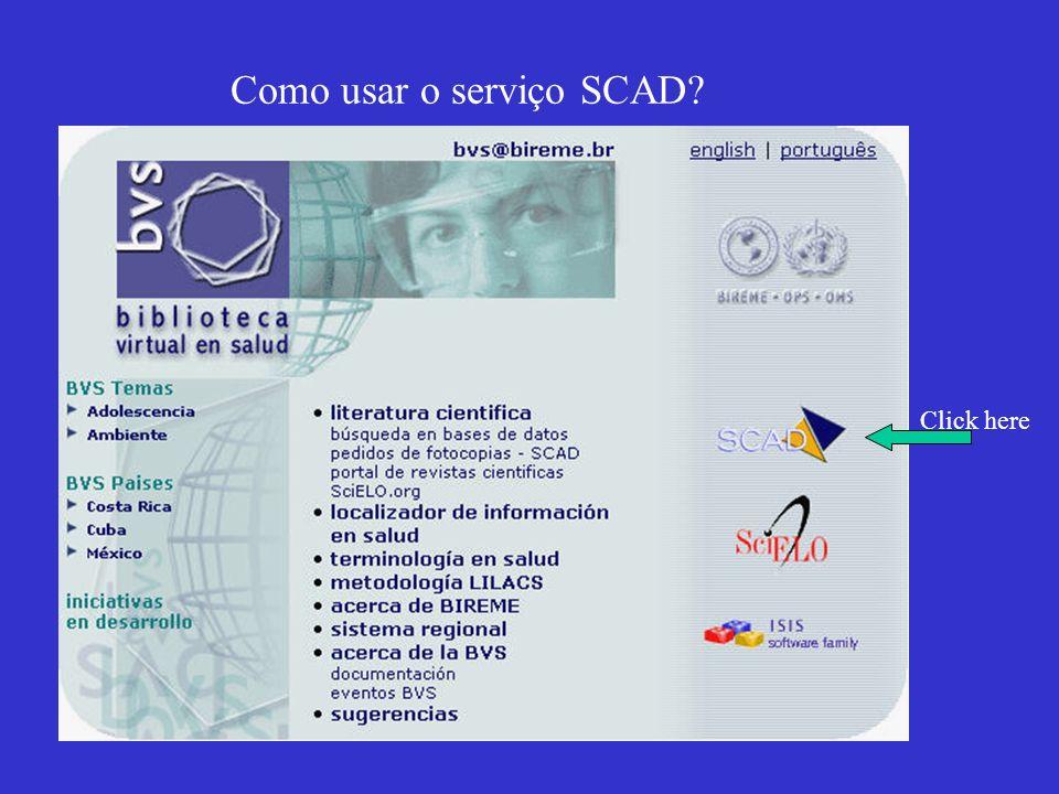 Como usar o serviço SCAD
