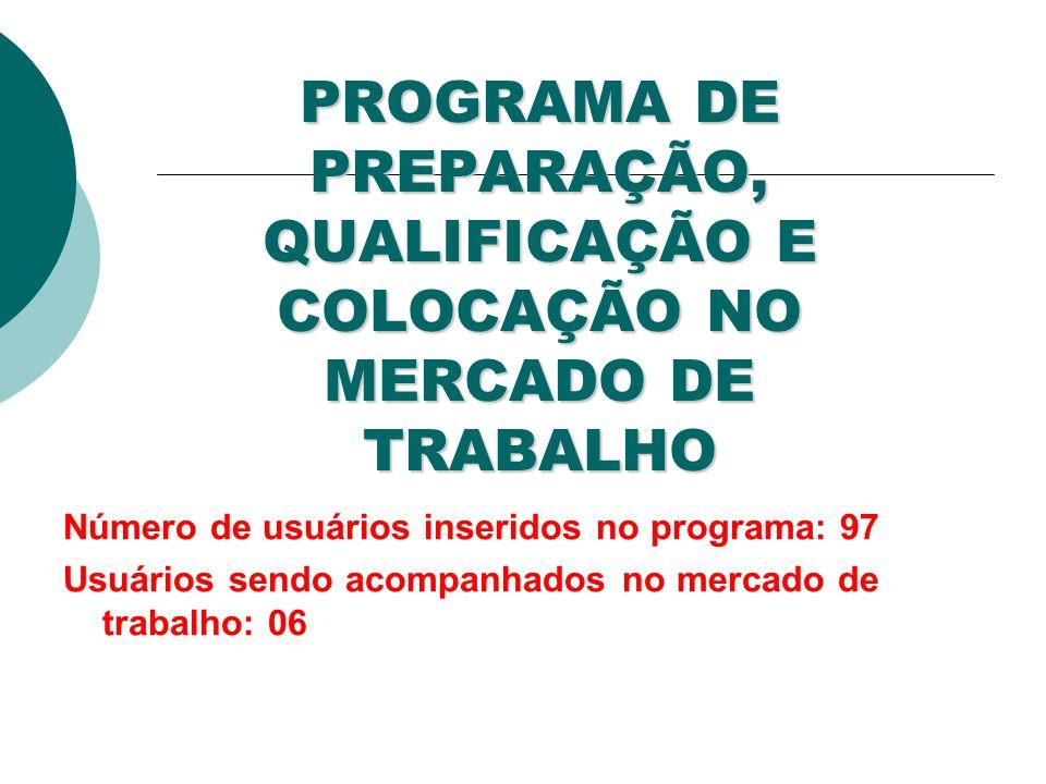 PROGRAMA DE PREPARAÇÃO, QUALIFICAÇÃO E COLOCAÇÃO NO MERCADO DE TRABALHO