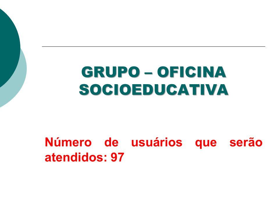GRUPO – OFICINA SOCIOEDUCATIVA