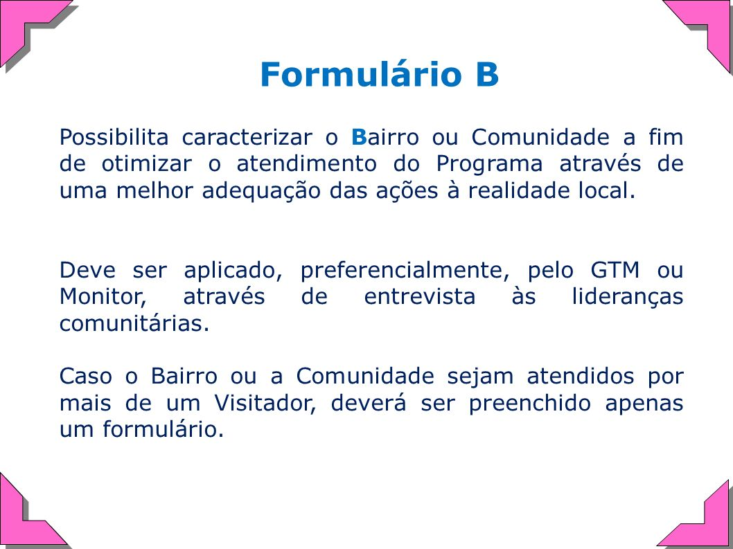 Formulário B