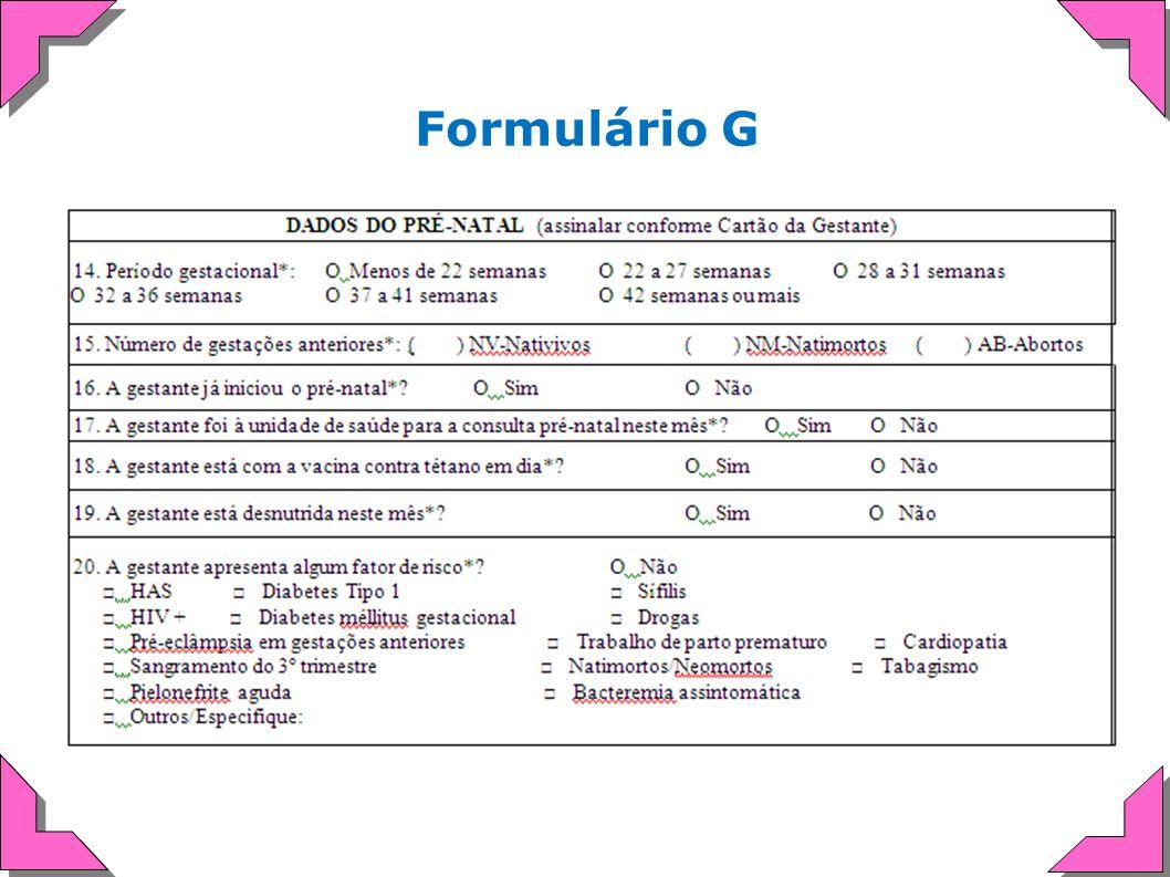 Formulário G