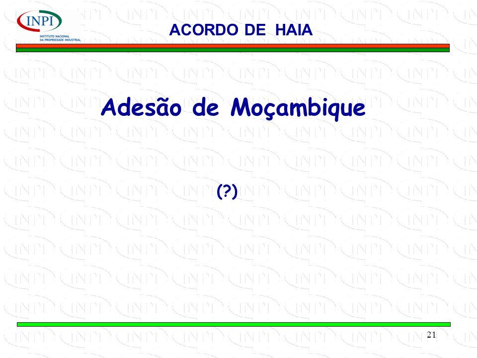 ACORDO DE HAIA Adesão de Moçambique ( )