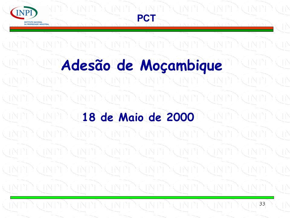 PCT Adesão de Moçambique 18 de Maio de 2000