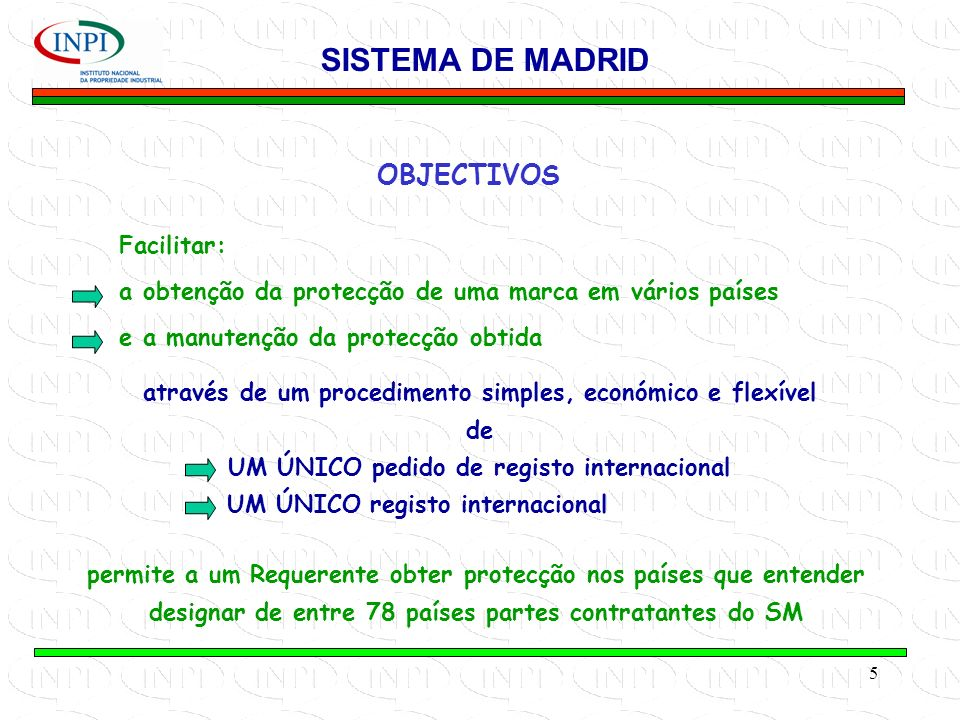 SISTEMA DE MADRID OBJECTIVOS Facilitar: