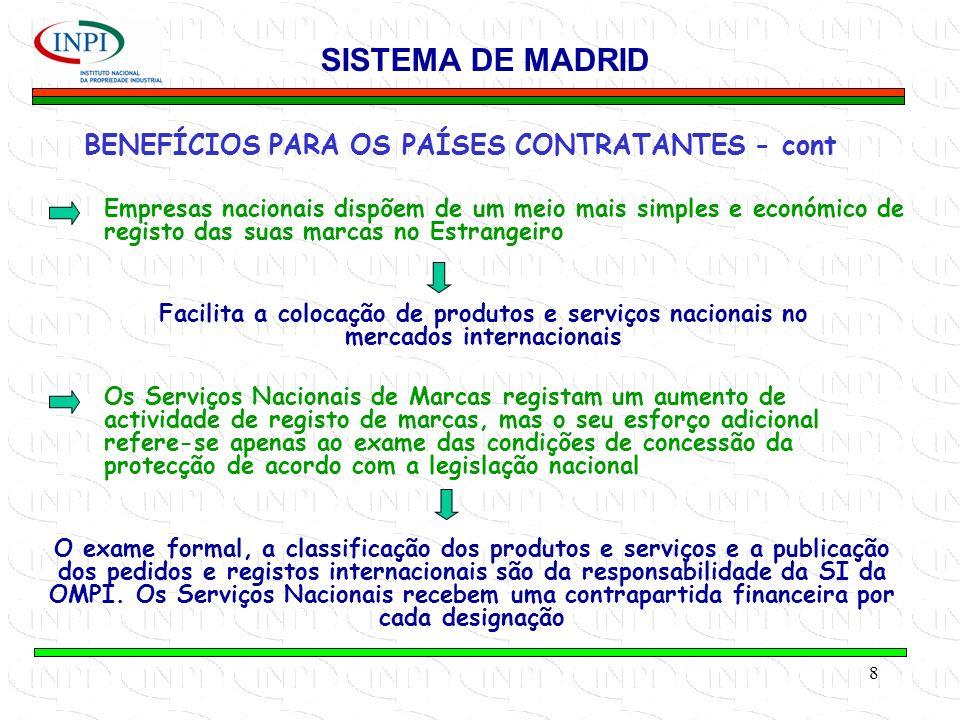 BENEFÍCIOS PARA OS PAÍSES CONTRATANTES - cont