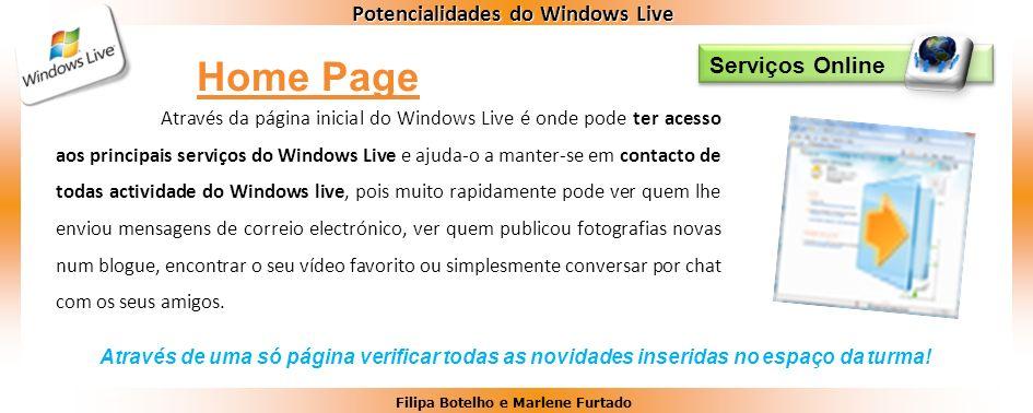 Home Page Serviços Online