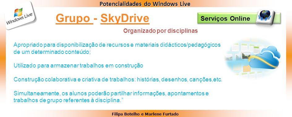 Grupo - SkyDrive Serviços Online Organizado por disciplinas