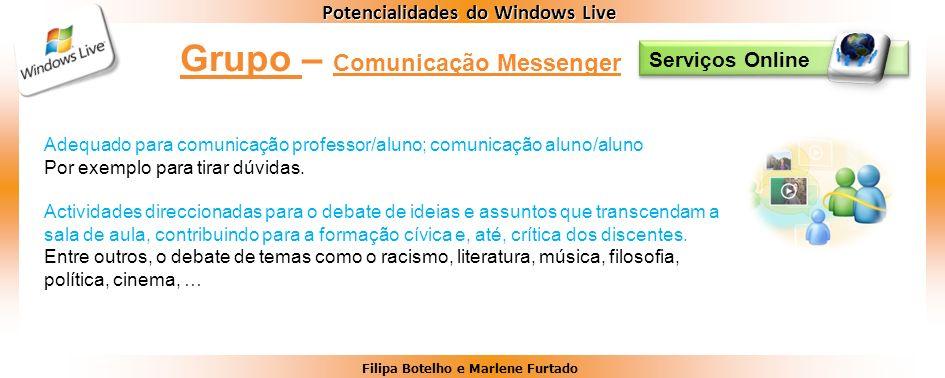 Grupo – Comunicação Messenger