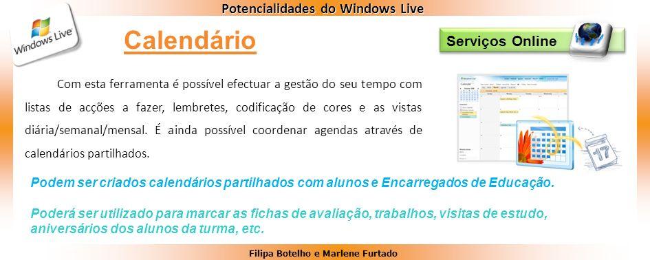 Calendário Serviços Online