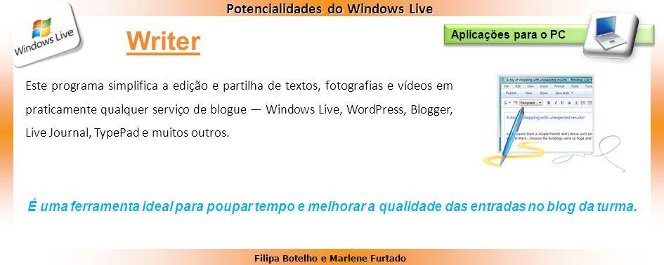 Writer Aplicações para o PC.
