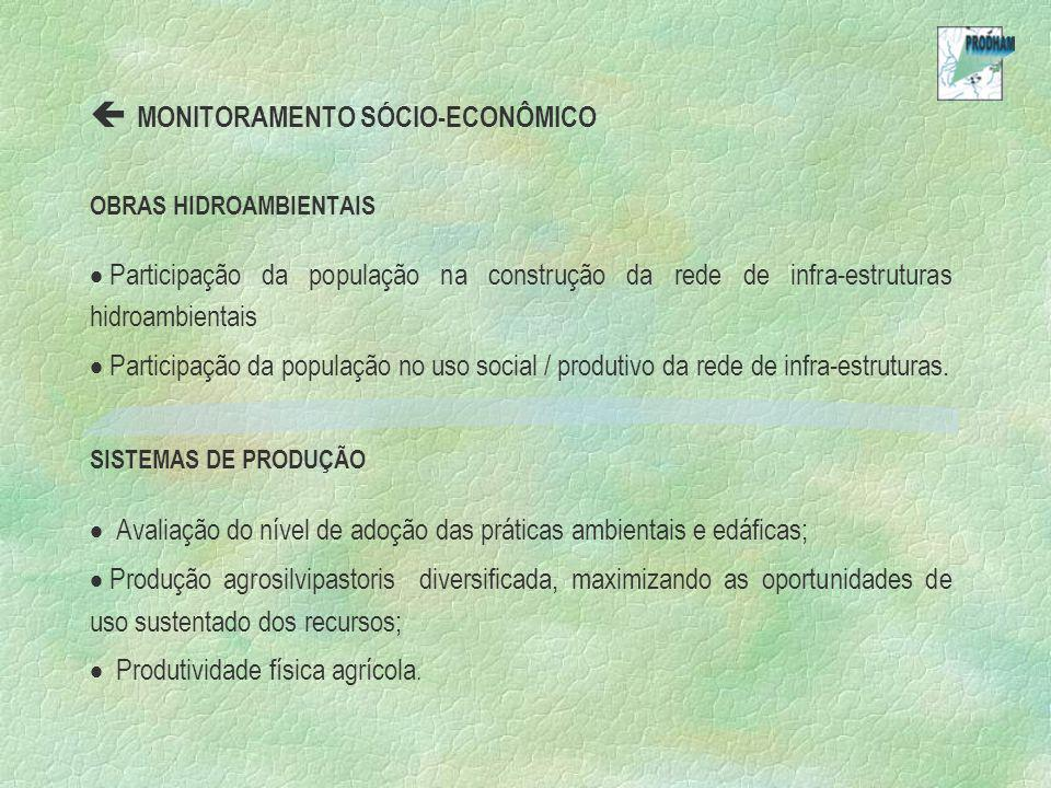  MONITORAMENTO SÓCIO-ECONÔMICO