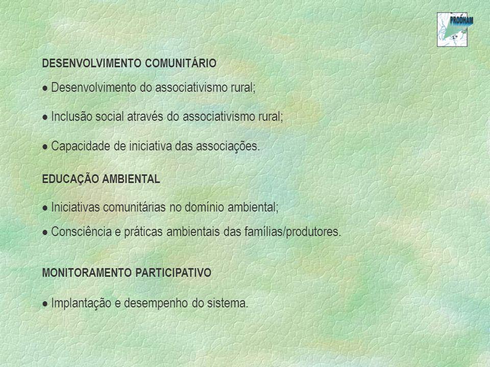 Desenvolvimento do associativismo rural;