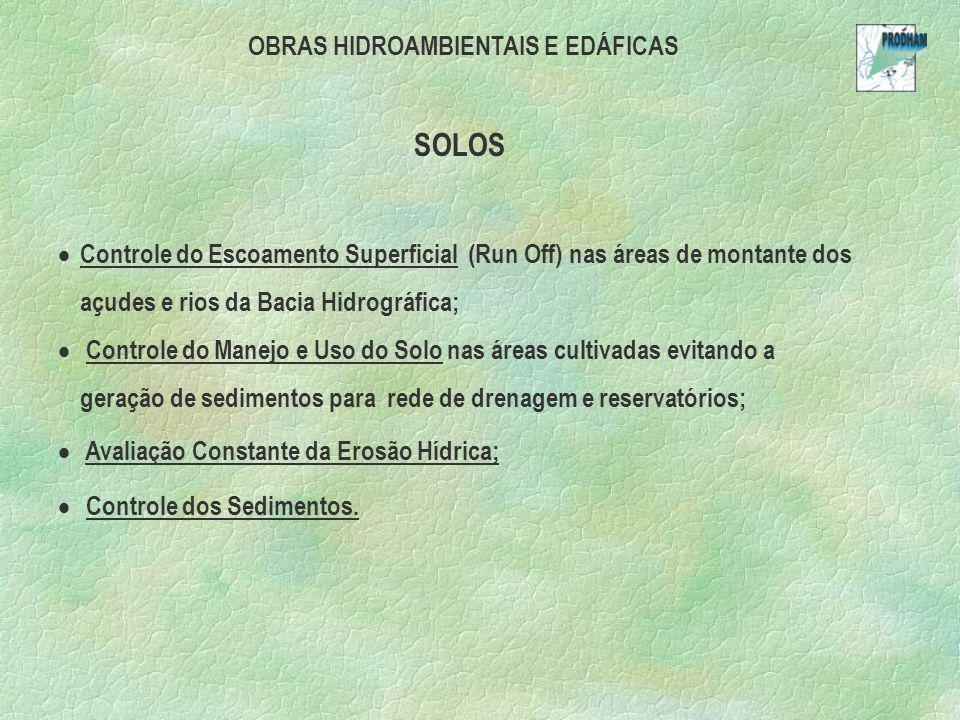 OBRAS HIDROAMBIENTAIS E EDÁFICAS