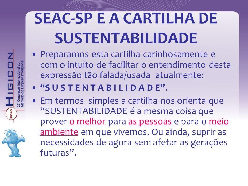SEAC-SP E A CARTILHA DE SUSTENTABILIDADE