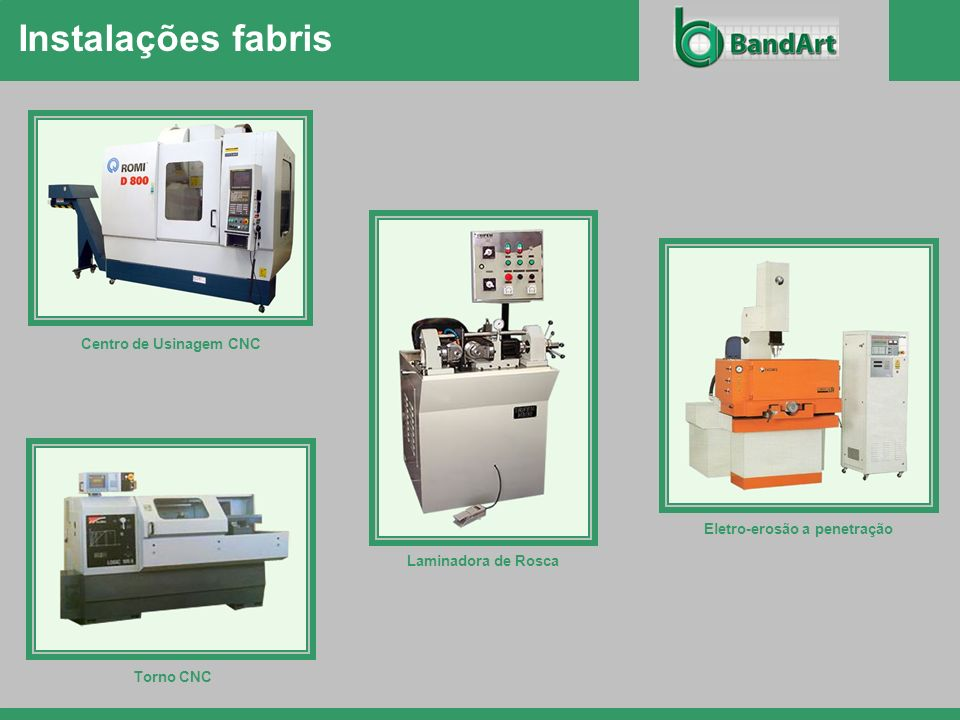 Instalações fabris Centro de Usinagem CNC Eletro-erosão a penetração